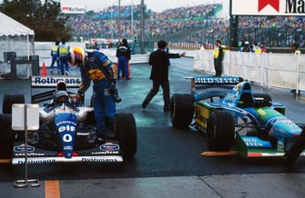 1. Damon Hill, Williams FW16; 2. Michael Schumacher, Benetton B194