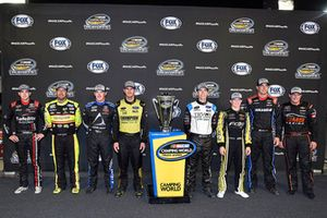 The eight drivers who will compete in the playoffs with the Championship trophy