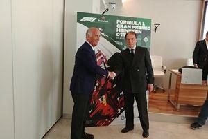 Presidente dell'ACI, Angelo Sticchi Damiani, Presidente del Autodromo Nazionale Monza SIAS spa, Giuseppe Redaelli