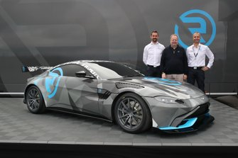 R-Motorsport Team Principal Florian Kamelger, Dr. Andy Palmer, Aston Martin Lagonda President & Group CEO, Aston Martin Vantage Cup by R-Motorsport