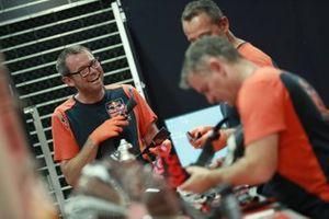 Red Bull KTM Factory Racing team members at work