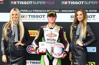 Ganador de la pole Scott Deroue, Kawasaki