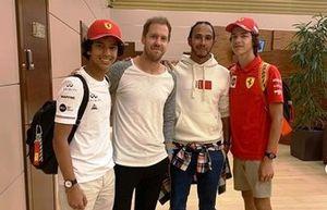 Vettel e Hamilton encontram fãs