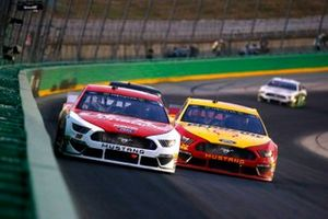 Ryan Blaney, Team Penske, Ford Mustang DEX Imaging and Joey Logano, Team Penske, Ford Mustang Shell Pennzoil