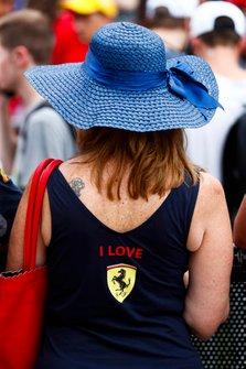 Ferrari fan in the fan zone