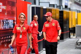 Sebastian Vettel, Ferrari in the paddock