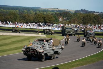Amphibious landing craft in the D-Day commemoration