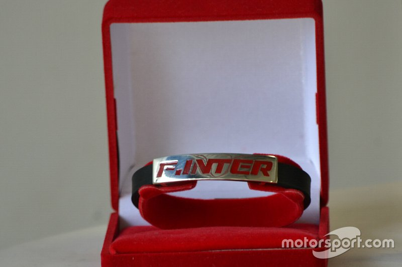 "Bracelete ""F.Inter Logo"" em prata"
