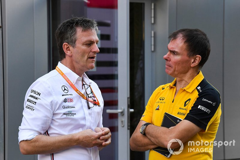 James Allison, Technical Director, Mercedes AMG, e Alan Permane, Trackside Operations Director, Renault F1 Team