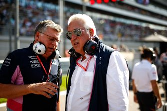 Otmar Szafnauer, Teambaas en CEO, Racing Point, en Lawrence Stroll, eigenaar Racing Point