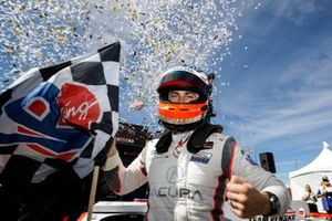 #6 Acura Team Penske Acura DPi, DPi: Dane Cameron celebrates the victory