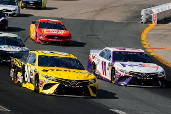 Erik Jones, Joe Gibbs Racing, Toyota Camry STANLEY and Denny Hamlin, Joe Gibbs Racing, Toyota Camry FedEx Express