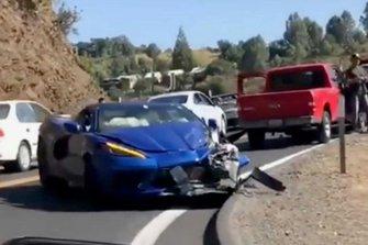 Corvette C8 crash