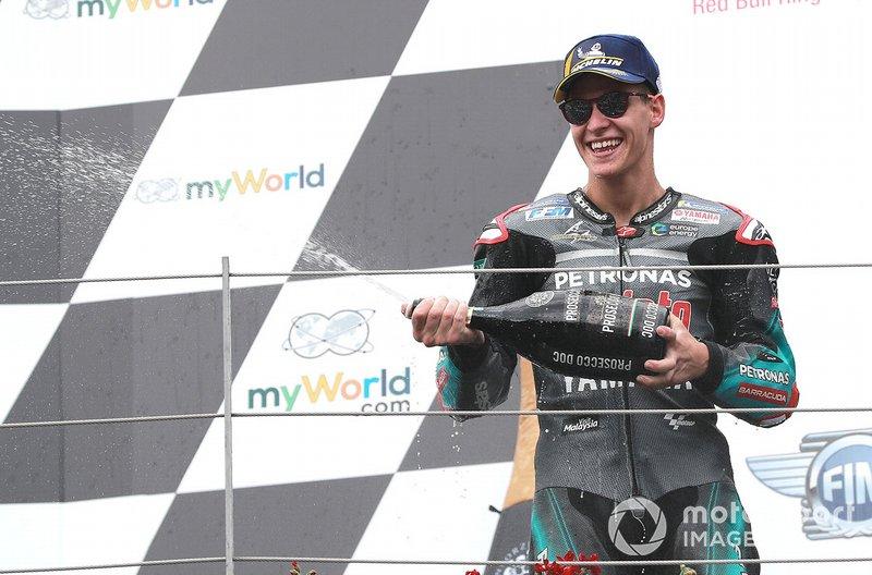 Podio: tercer lugar Fabio Quartararo, Petronas Yamaha SRT