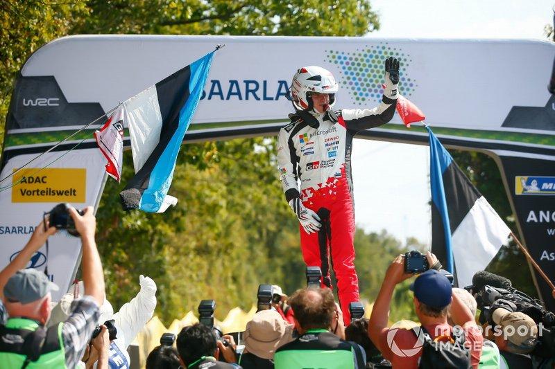 Winner Ott Tänak, Toyota Gazoo Racing