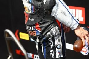 Tom Sykes, BMW Motorrad WorldSBK Team ripped leathers