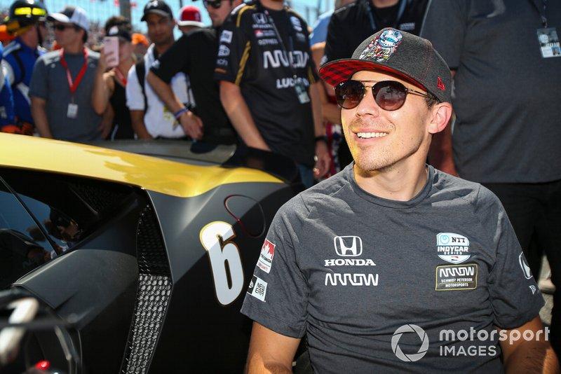 Honda driver Robert Wickens, prepares to drive the Arrow Acura NSX, Pre-Race