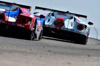#67 Ford Chip Ganassi Racing Ford GT, GTLM: Ryan Briscoe, Richard Westbrook, #66 Ford Chip Ganassi Racing Ford GT, GTLM: Joey Hand, Dirk Mueller