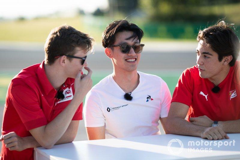 Callum Ilott, Sauber Junior Team by Charouz Guanyu Zhou, UNI Virtuosi Racing e Giuliano Alesi, Trident