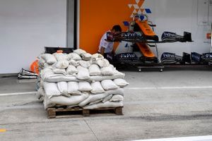 Wet weather preparations with sand bags