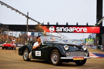 Lando Norris, McLaren, in the drivers parade
