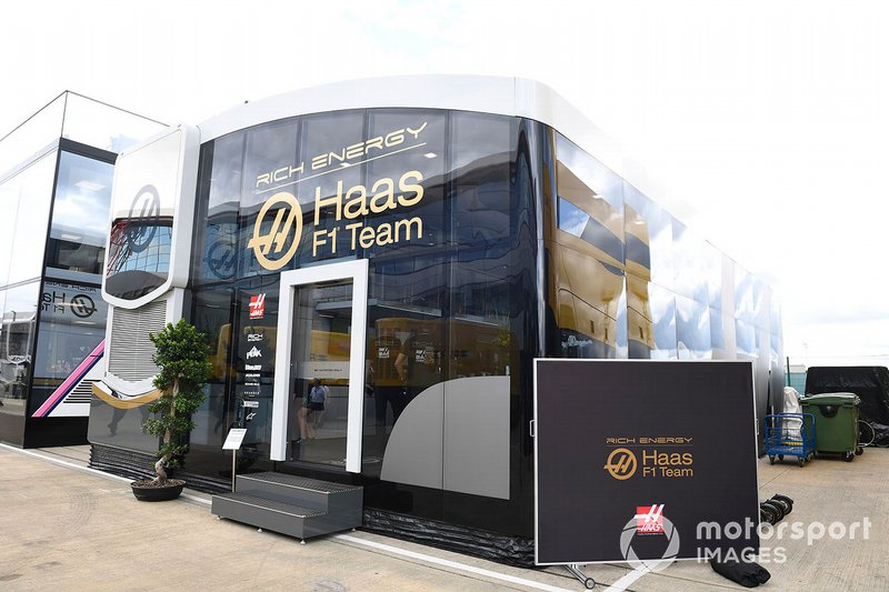 Haas F1 hospitality in the paddock