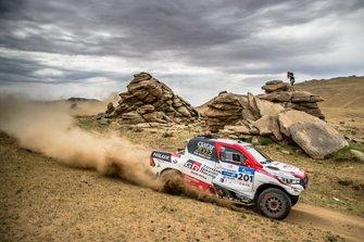Nasser Al Atityha, Mathieu Baumel, Toyota Gazoo Racing SA, Toyota Hilux