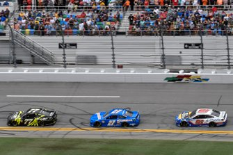 Justin Haley, Spire Motorsports, Chevrolet Camaro Fraternal Order of Eagles, Ross Chastain, Premium Motorsports, Chevrolet Camaro Xchange of America, B.J. McLeod, Petty Ware Racing, Ford Mustang JACOB COMPANIES