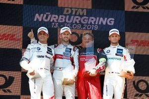 Podium: Race winner René Rast, Audi Sport Team Rosberg, second place Bruno Spengler, BMW Team RMG, third place Marco Wittmann, BMW Team RMG