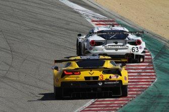 #3 Corvette Racing Corvette C7.R, GTLM: Jan Magnussen, Antonio Garcia, #63 Scuderia Corsa Ferrari 488 GT3, GTD: Cooper MacNeil, Toni Vilander