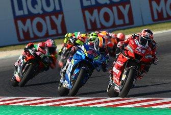 Микеле Пирро, Ducati Team, и Алекс Ринс, Team Suzuki Ecstar