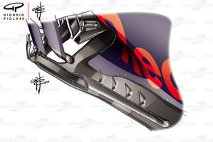 Red Bull Racing RB 15, side pods fins