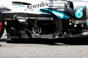 Lewis Hamilton, Mercedes AMG F1 W10, arrives on the grid after taking pole position