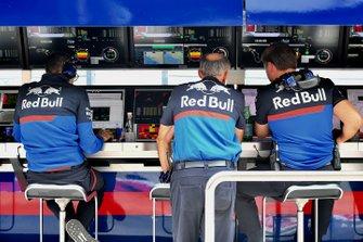 Franz Tost, Team Principal, Toro Rosso, sur le muret des stands