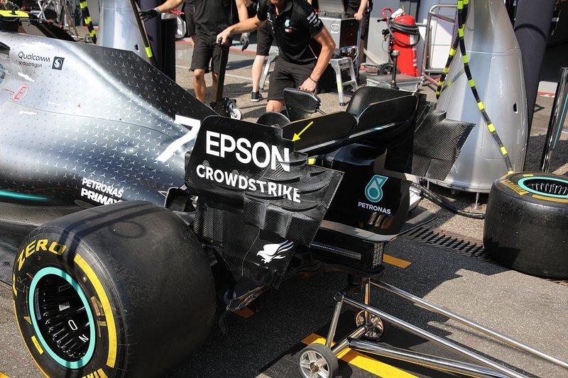 Détail technique de la Mercedes AMG F1 W10