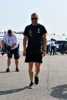 Valtteri Bottas, Mercedes AMG F1 arrives