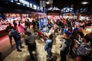 The Aprilia sidles up to the Moto Guzzi at Boqueria market