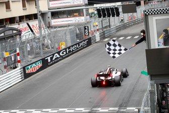 Race Winner Nyck De Vries, ART Grand Prix crosses the finish line