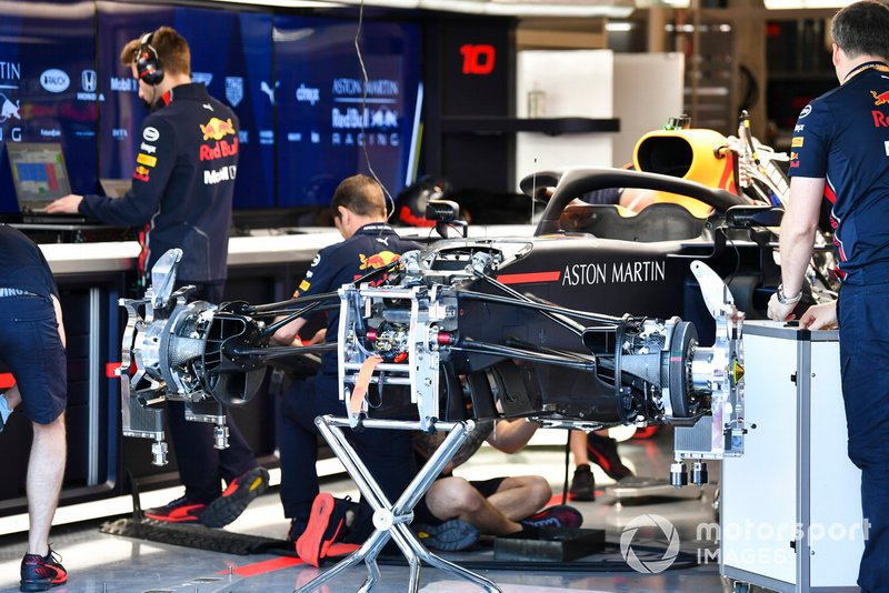 Suspensión delantera de Red Bull Racing RB15