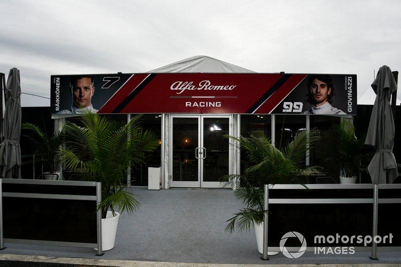El hospitality de Alfa Romeo Racing