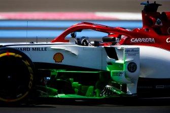 Flo-Via paint on the car of Kimi Raikkonen, Alfa Romeo Racing C38