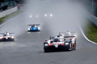 #7 Toyota Gazoo Racing Toyota TS050: Mike Conway, Kamui Kobayashi, Jose Maria Lopez leads