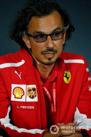 Laurent Mekies, directeur sportif de Ferrari, lors de la conférence de presse