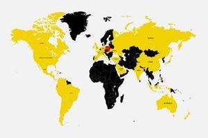 Carte du monde avec la présence de Motorsport.com