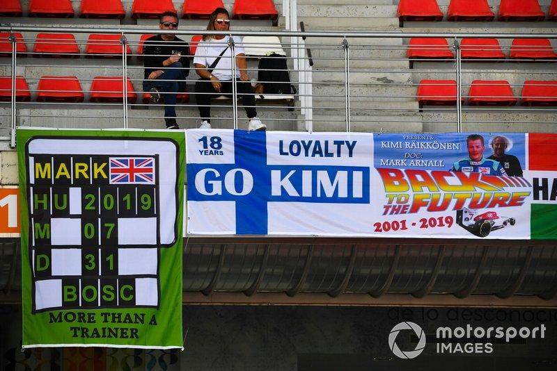 Des bannières pour Kimi Raikkonen, Alfa Romeo Racing
