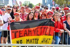 Fans of Sebastian Vettel, Ferrari in the Fan Zone