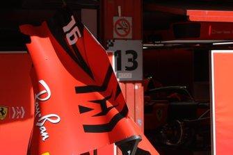 Ferrari engine cover technical detail