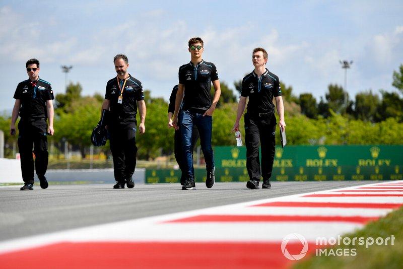 George Russell, Williams Racing cammina sulla pista