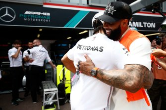 Lewis Hamilton, Mercedes AMG F1, meets NFL Superstar Odell Beckham Jr