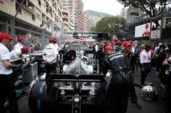 Valtteri Bottas, Mercedes AMG W10, on the grid